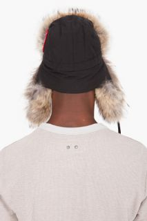 1fd09fe27ad Canada Goose Black Coyote Fur Aviator Hat for men on PopScreen