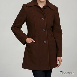 Stephanie Mathews Womens Button front Coat