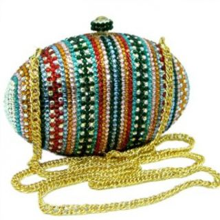 Multicolor Swarovski Crystals Clutch Purse and Evening Bag