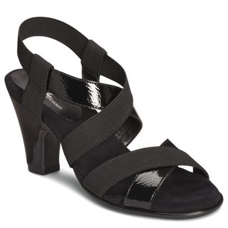 A2 by Aerosoles Womens Kaleidescope Black Strappy Sandals
