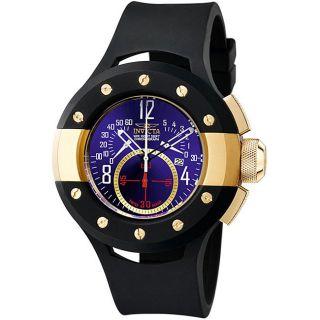 Invicta Mens S1 Black Polyurethane Strap Chronograph Watch