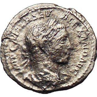 SEVERUS ALEXANDER 222AD Ancient Silver Roman Coin Virtus