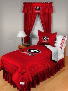 Georgia Bulldogs Locker Room Bedroom Set, Twin: Sports
