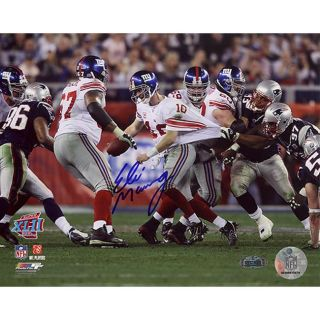 Steiner Sports Eli Manning Super Bowl XLII Escaping Tackle Photograph