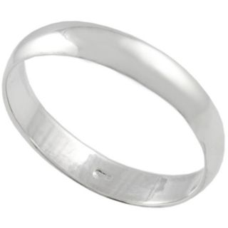 Smooth Simple design High shine Polished finish Sterling Silver Ring