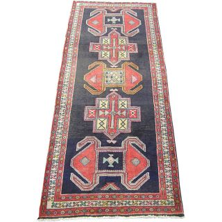 Persian Hand knotted Wool Hamadan Runner (38 x 96)