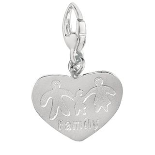 Sterling Silver Heart with Family Charm