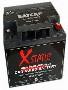 XStatic BatCap 2000 50 Amp Hour Car Stereo Battery BatCap