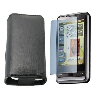 Leather Case/ Screen Protector for Samsung Omnia i910