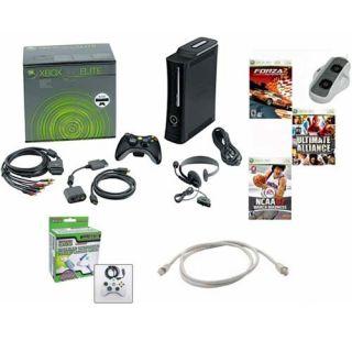 Xbox 360 Elite 120GB Bundle   3 Games, Cooling Fan