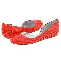 DKNY Brianna Orange Patent Python