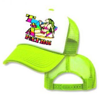 T&A Patrol 80s Yellow Neon Mesh Trucker Hat Cap Clothing