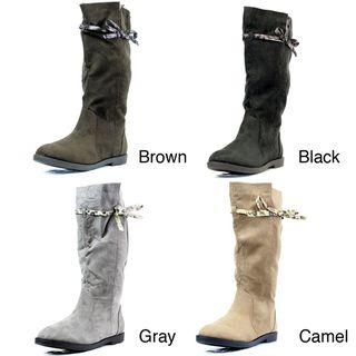 Stanzino Womens Tie detail Mid calf Boots