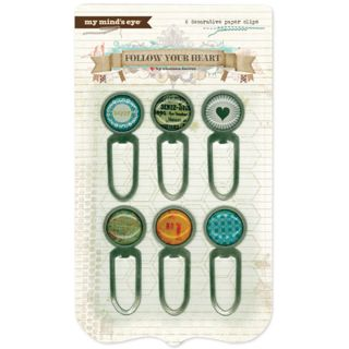 Follow Your Heart Be Amazing Decorative Paper Clips (Set of 6