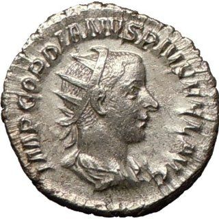 GORDIAN III 244AD Authentic Rare Ancient Silver Roman Coin