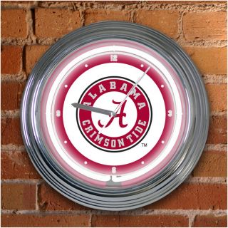 Alabama Crimson Tide 15 inch Neon Clock
