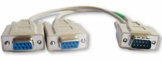 Your Cable Store 1 Foot 9 Pin Serial Splitter Cable DB9 1M