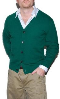 Polo Ralph Lauren Mens Cashmere Sweater Cardigan Green