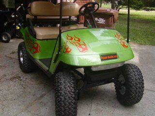 Golf cart Flame Graphics set #2    Automotive