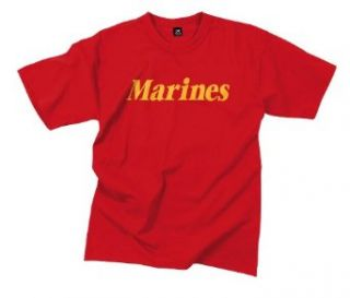 2x   Red marines T shirt Clothing