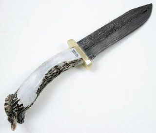 Silver Sag Knives 65 Damascus Bowie Fixed Blade Knife