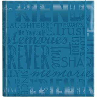 Embossed Gloss Friends Expressions Teal Photo Album (Holds 200