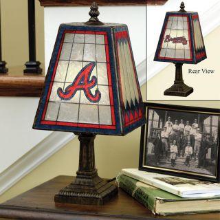 Atlanta Braves 14 inch Art Glass Lamp