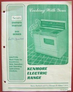 Kenmore Electric Range  Owners Manual 944 Series