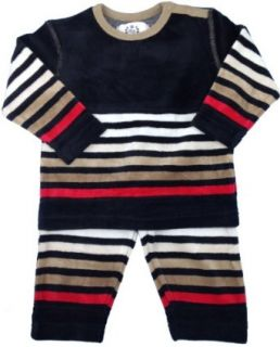 BOY Boys Velour Pajamas   CY A 234 P   Black, 12 Months Clothing