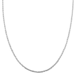 Fremada Sterling Silver 1.1mm Twisted Box Link Chain (16 30 inch