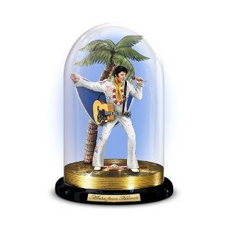 Elvis Presley Collectible Figurine In Glass Dome Display