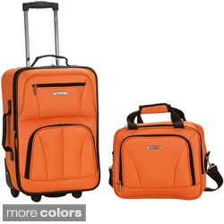 Rockland New Generation 2 piece Lightweight Carry on Luggage Set Today
