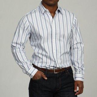 MICHAEL Michael Kors Mens Gunnison Stripe Woven Shirt