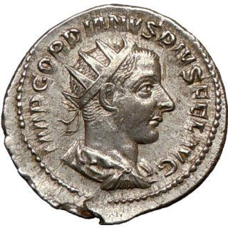 GORDIAN III 241AD Silver Rare Genuine Ancient Roman Coin Nude Farnese