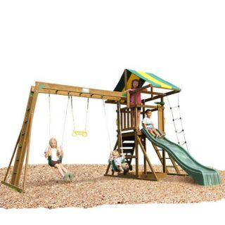 Play Time Franklin Series Swing Set with Top Ladder and Chain