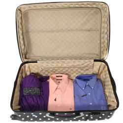 World Traveler Deluxe Polka Dot 3 piece Lightweight Expandable