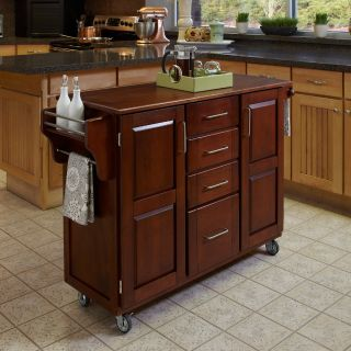 Home Styles Create a Cart Cherry Finish Cart Today $535.74