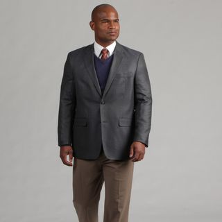Adolfo Mens Blue/Grey Wool Sports Coat