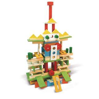 Jeujura   Técap Multiform   200 pièces : jeu de construciton en bois