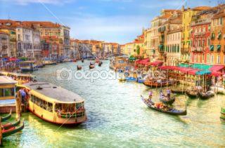 Venice Grand Canal view  Stock Photo © chaoss #1328704