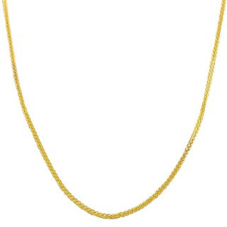 Fremada 14k Yellow Gold 1 mm Square Wheat Chain Today $129.99   $169