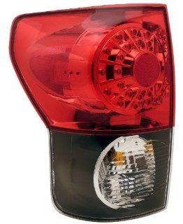 Toyota Tundra 07 08 L.E.D Tail Lamps / Lights Black Housing Red/Clear