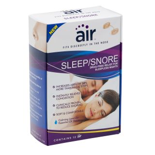 Air Sleep/Snore Drug free Nasal Breathing Aid (Pack of 12) Today $18