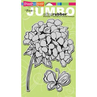 Stampendous Hydrangea Jumbo Cling Rubber Stamp