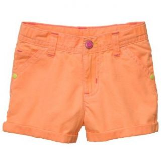 Carters Girls Roll Cuff Neon Shorts (18 months, orange