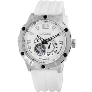 Lancaster Italy Mens Status Symbol Automatic White Watch