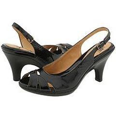 Sofft Vivian Black Crinkle Patent Leather