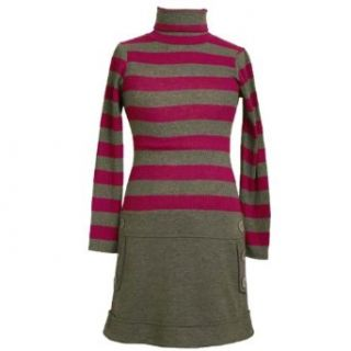 Bonnie Jean LITTLE GIRLS 4 6X GRAY FUCHSIA STRIPE RIB KNIT