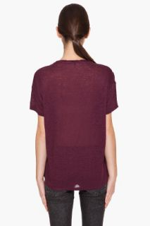 Acne Bay Linen T shirt for women