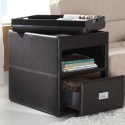 Oakford Chair Side Table with Reversible Tray Top